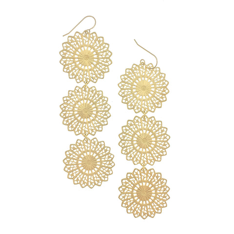 3 Layer Filigree Earring