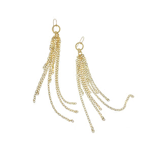 Gold Circle Strand Earrings