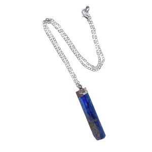 Silver Dipped Kyanite Shard Necklace
