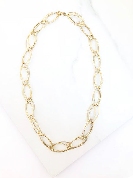 Gold Link Chain Necklace