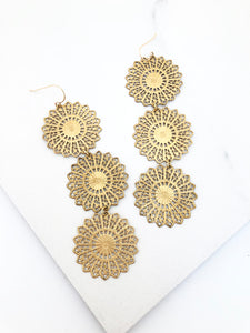Three Layer Filigree Earring