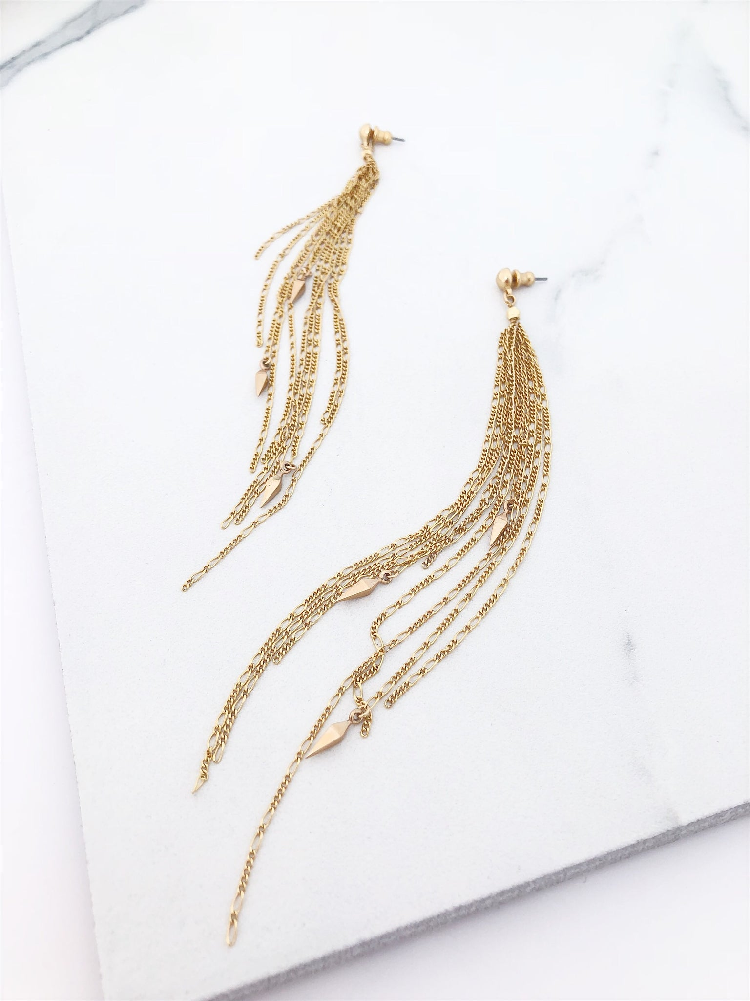 Finial Waterfall Earrings