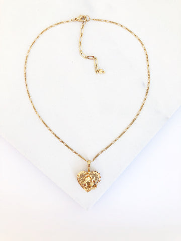 Filigree Rose Heart Choker