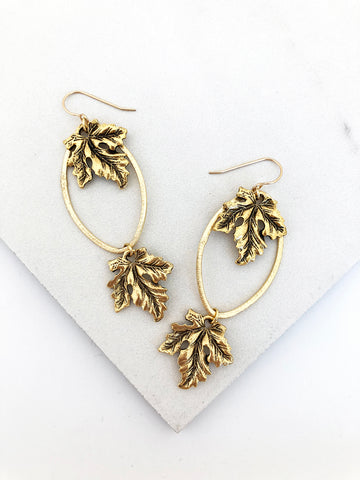 Falling Leaf Earrings