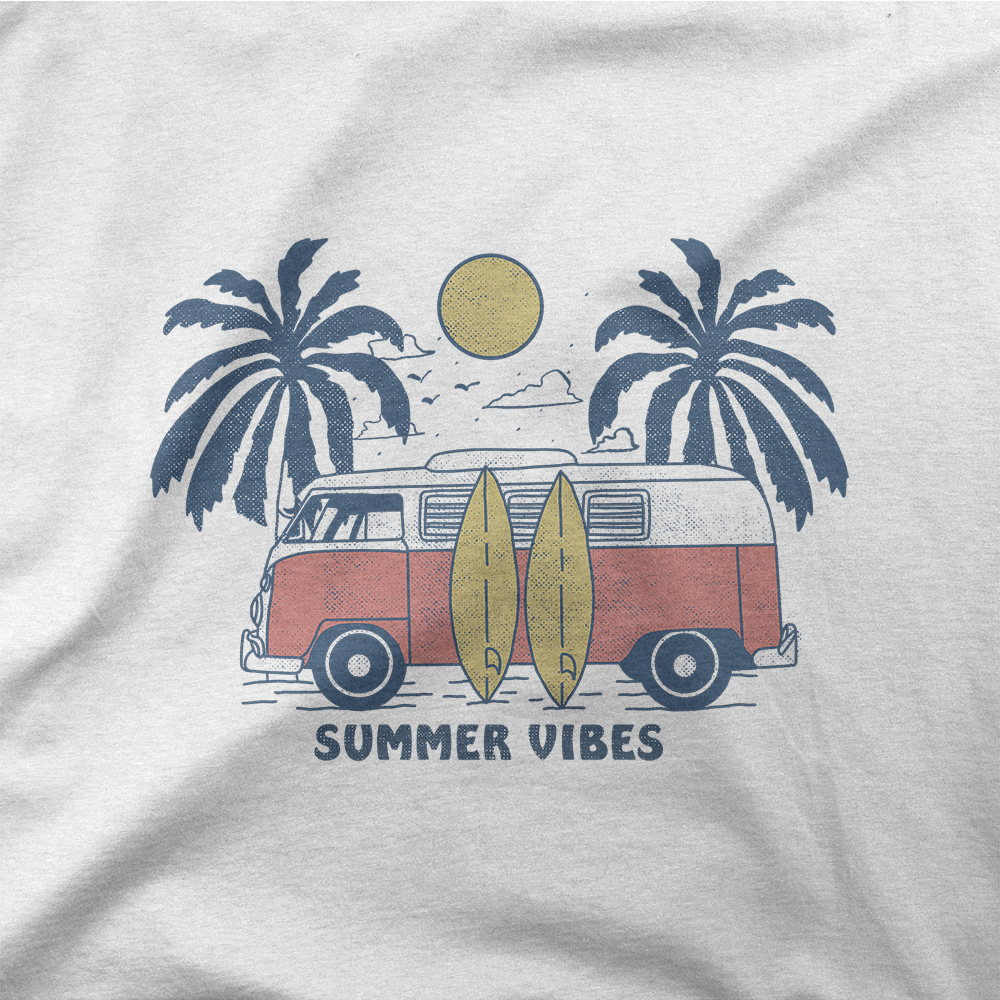 T-Shirt, Summer Vibes | T-shirt - AuthenticTemper
