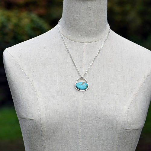 Sterling Silver & Royston Turquoise Necklace