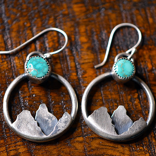 Morning Star Over Mountains Earrings