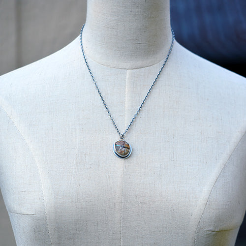 Royston Ribbon Turquoise & Sterling Silver Necklace