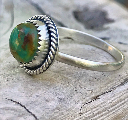 10% OFF - Royston Turquoise Sterling Silver Ring - U.S. Size 8