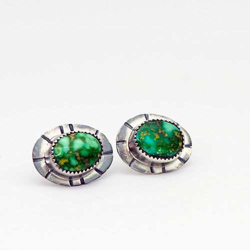 Sonoran Gold Turquoise & Sterling Silver Stud Earrings