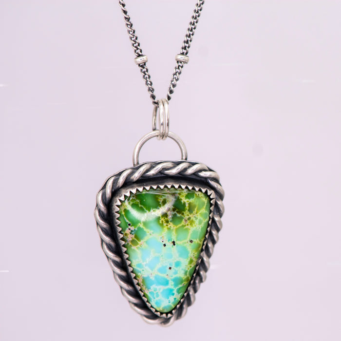 Sonoran Gold Turquoise & Sterling Silver Necklace