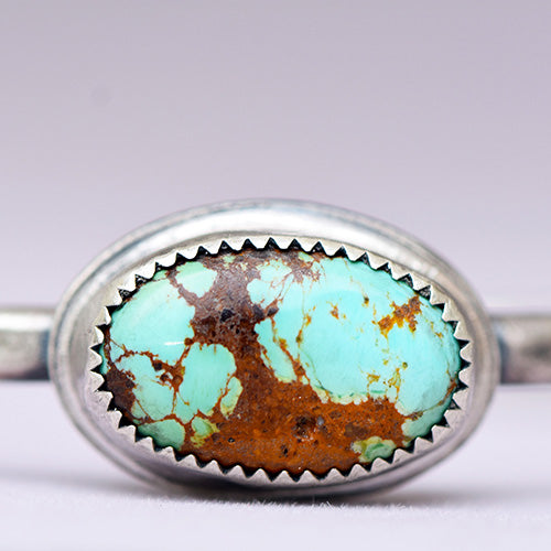 Sterling Silver Cuff with Hubei Turquoise