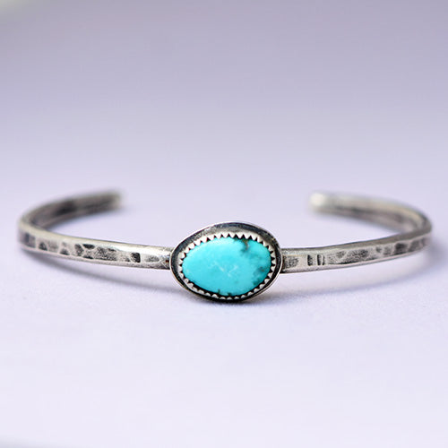 Sterling Silver Cuff with Sierra Nevada Turquoise
