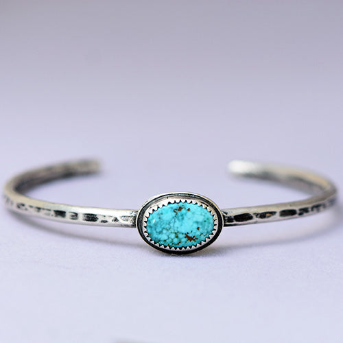 Sterling Silver Cuff with Sonoran Mountain Turquoise
