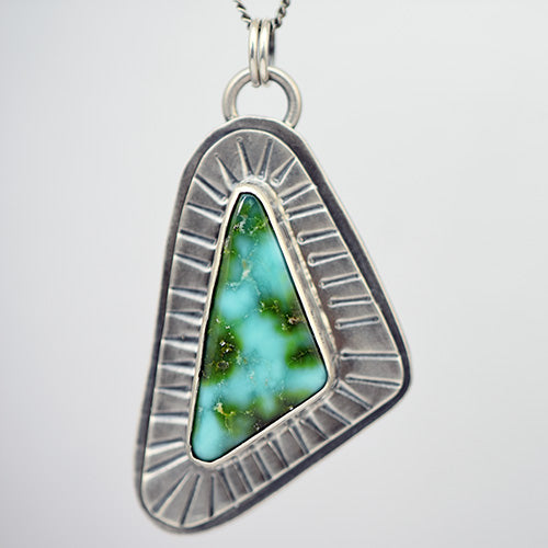 Sonoran Gold Turquoise & Sterling Silver Tree Necklace