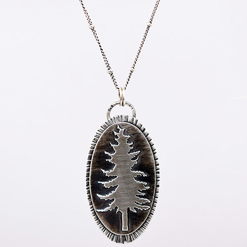 Sugar Pine Sterling Silver Medallion
