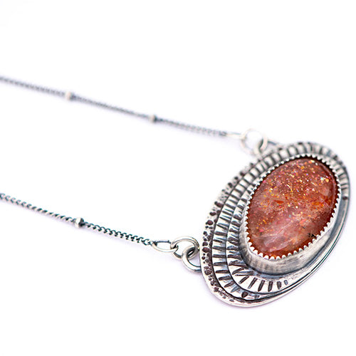 New Day Rising Sterling Silver & Sunstone Necklace