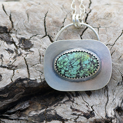 Treasure Mountain Turquoise Minimalist Necklace