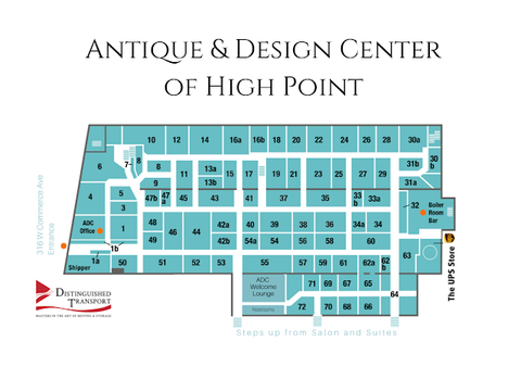 Map of High Point Antique and Design Center
