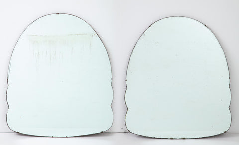 Pair of Art Deco Style Arched Mirrors