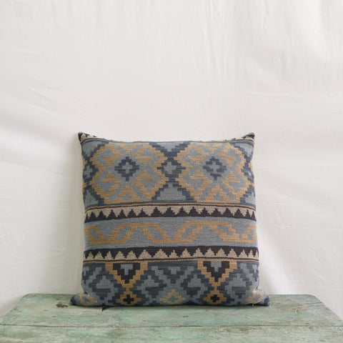 Kekoua Blue Pillow, 22x22