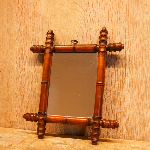 RT Small Faux Bamboo Mirror