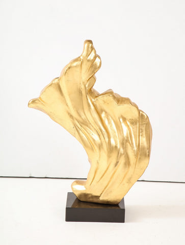 Gilt flame sculpture