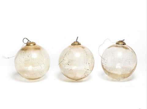 Witches Gilded blown glass balls
