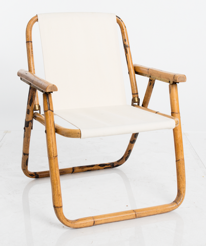 Pair Bamboo Folding Chairs