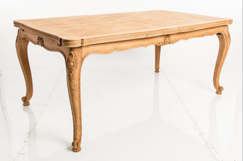 French Country Style Bleached Oak Dining Table