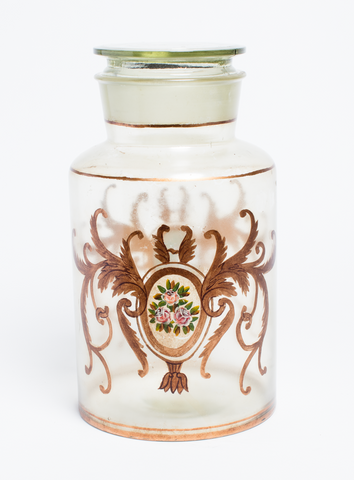 Antique Italian Apothecary Lidded Glass Jar