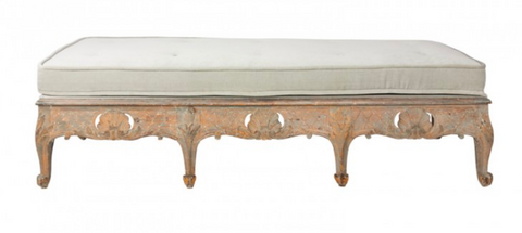 Painted Swedish Bench Ca. 1770