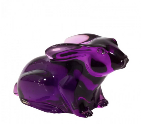 Shlomi Haziza Rabbit in Purple Lucite