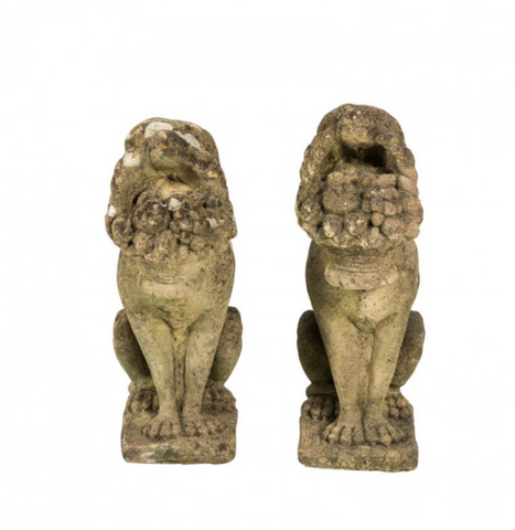 Pair of Dog Garden Ornaments
