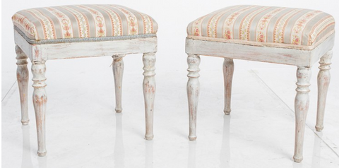 Pair Small Swedish Stools