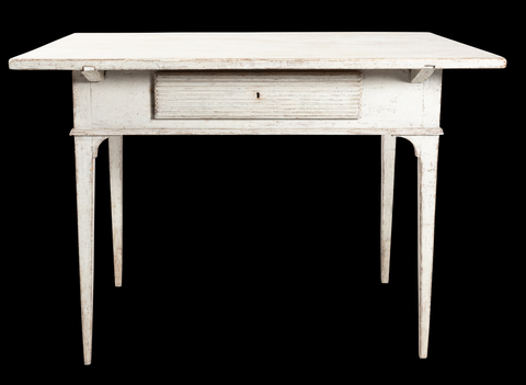 19th century Gustavian lamp table with a single drawer