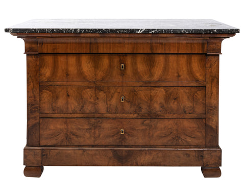 19th Century Louis Philippe Commode with Original Stone Top