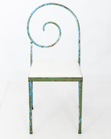 Luigi Serafini Style Scroll Back Suspiral Chairs for Garden