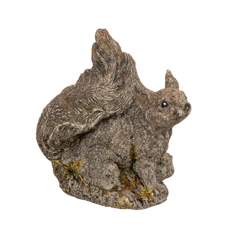 Vintage Stone Squirrel Garden Ornament