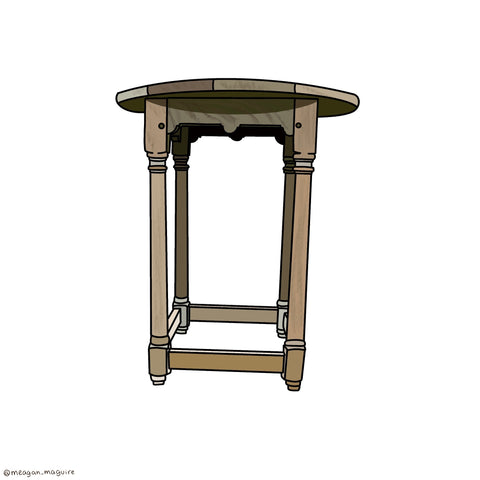 RT 1900 Bleached Wood Side table