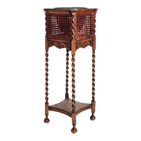 CANED PLANT STAND