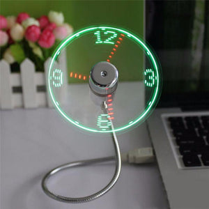 For your Office desk with super cool fan with LED light & time display - USB - Go Jingle Bells