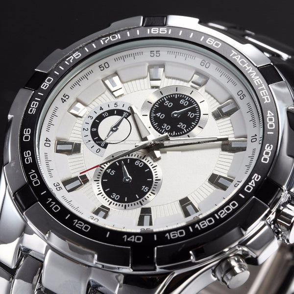 Luxury Stainless Steel Mens watch waterproof - Go Jingle Bells