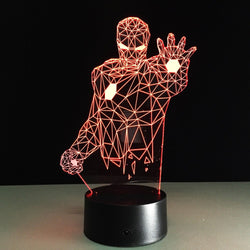 IRON MAN 3D Night Light - Avengers - Marvel - Color Changing - Remote Controlled - Go Jingle Bells