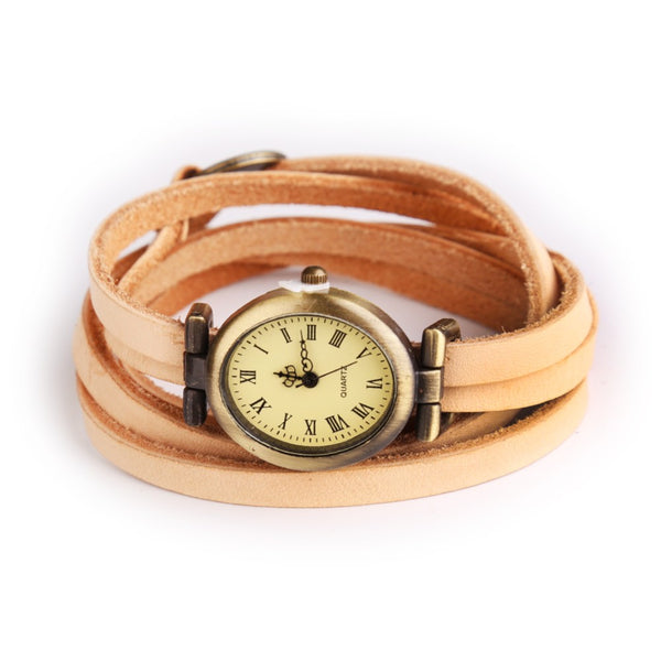 Stylish Genuine Leather Roma Digital Watch - Go Jingle Bells