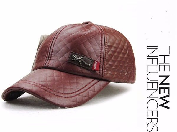 """The Bossy"" - Leather Base Ball Cap for Women - Go Jingle Bells"
