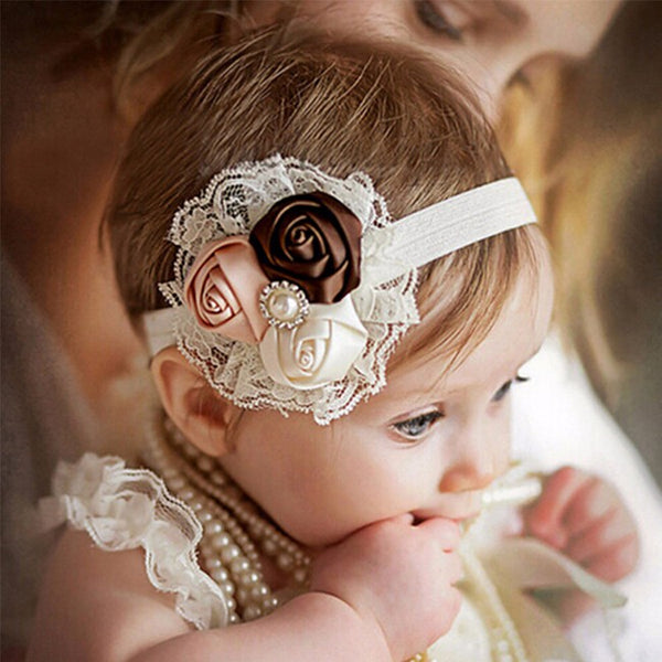 """The Beautiful Flower Bow"" - Baby girl fashion accessory - Go Jingle Bells"