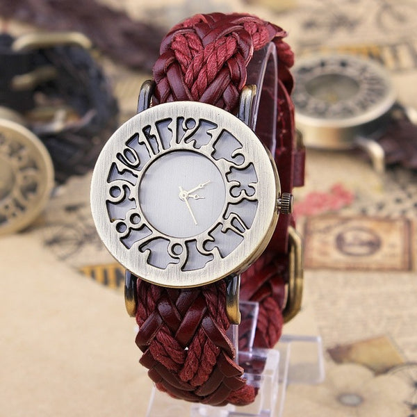 Vintage Style Genuine Leather Watch - Go Jingle Bells