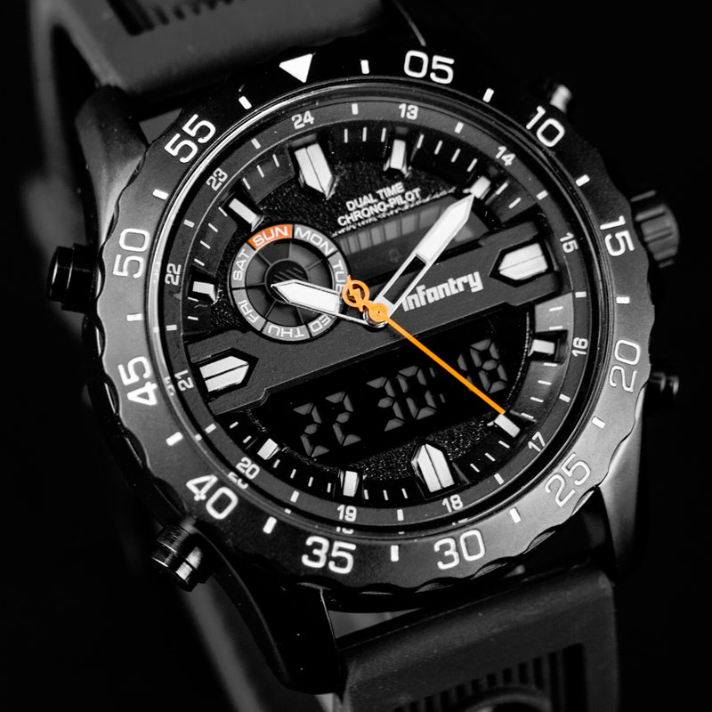 Military Army - Luxury Quartz watch + Analog + Digital - Go Jingle Bells