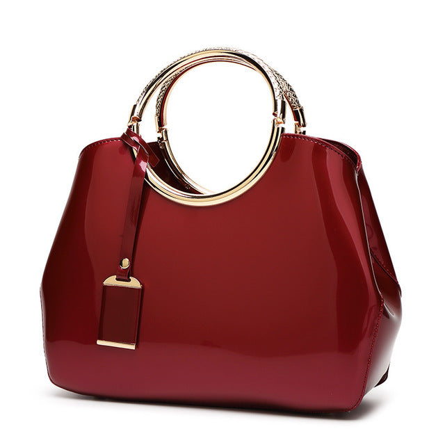 """The Styler"" - Womens HangBag - High Quality Leather - Go Jingle Bells"